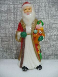 christmas vintage candle santa father christmas unused 20cm tall traditional