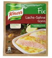 12 x KNORR FIX LACHS SAHNE GRATIN salmon cream herbs spice ORIGINAL FROM GERMANY