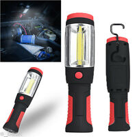 2in1 3W COB LED Camping Work Inspection Light Lamp Hand Torch Magnetic Flashight