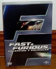 FAST AND FURIOUS-PACK 1-7 COLECCION COMPLETA-7 DVD-PRECINTADO-SEALED-NUEVO-NEW