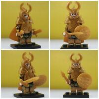 Lord Of The Rings Hobbit 4 Mini Figures Haldir's  Elf Golden Five Armies Elves