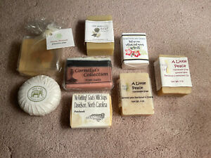 Lot of 8 Scented Soap Bars (Patchouli, Honey Almond Etc…)