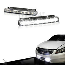 High Power Bright White 8 LED Chrome Housing Daytime Running Lights Fog Lamps
