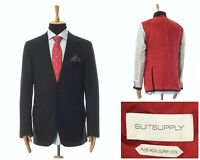 Mens SUITSUPPLY Tailored Jacket Blazer Coat Wool Black Size 44 54