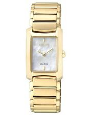 Citizen Eg2973-55d Eco-drive Ladies Solar Gold Watch MOP Wr50m