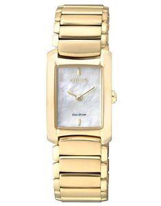 Citizen EG2973-55D Eco-Drive Ladies Solar Gold Watch MOP WR50m NEW RRP $550.00
