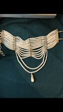Authentic Christian Dior by John Galliano Masai Pearl Necklace New In Box