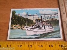 Maid of the Mist boat 1950's Vintage postcard Niagra Falls New York