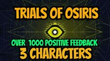 Destiny 2 Trials of Osiris 3 characters Guaranteed Flawless Light house only PS4