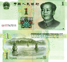 China 1 Yuan Banknote World Paper Money Unc Currency Pick p-New 2019 Bill Note