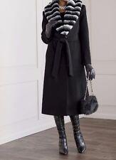 sz medium Faux Fur Chinchilla Trim Coat by Ashro new