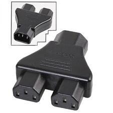 IEC Power Y Splitter C14 to 2 x C13 Kettle Lead Adaptor PC Monitor PSU