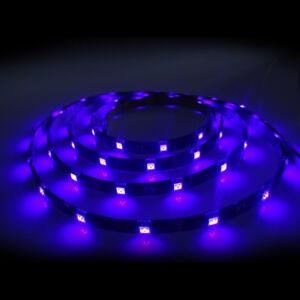Bande LED Lumière Noire 5050 5m 150 Leds UV IP54 Lot Complet Secteur Blacklight