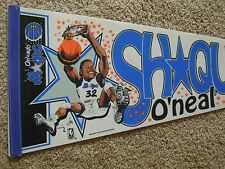 Vintage Shaquille O'Neal Orlando Magic Basketball Full Size 30 Inch Pennant