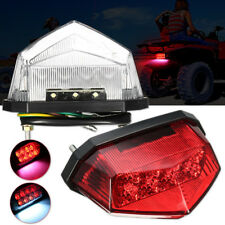 Motorcycle Motorbike ATV 11 LEDs License Plate Rear Tail Stop Brake Light Lamp
