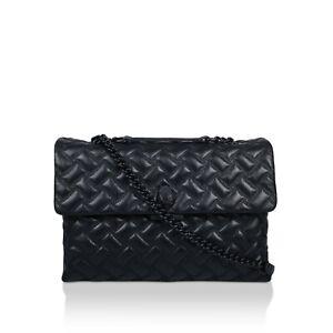Kurt Geiger XXL Black Leather Drench Kensington Bag