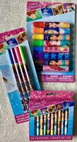 DIsney PRINCESSES School Supplies, Glitter Gel Pens, 24 Crayons, 8 Markers-NEW