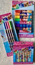 DIsney PRINCESSES School Supplies, Glitter Gel Pens, 24 Crayons, 8 Markers-NEW