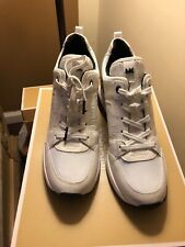 Michael Kors Georgie Trainer Sneakers Lace Up Optic White Size 8,5  $155❤️❤️