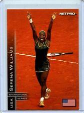 SERENA WILLIAMS 2003 NETPRO TENNIS ROOKIE CARD #2! INTERNATIONAL SERIES USA!