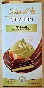 + Lindt Creation Pistazie mit Mandelstückchen 150g, Schokolade feinherb