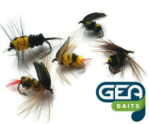 Bumblebee Fly Fishing Flies for Trout Bass Salmon Bumble Beee 5 pcs