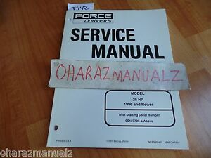 1996 (or newer)  Force Outboard Motors 25 HP Service Manual OEM