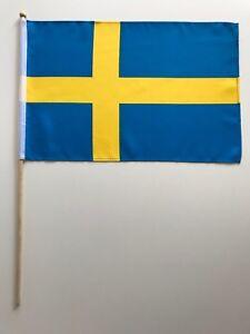 Fahne Flagge Schweden 30x45 cm mit Stab