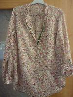 ZARA  preciosa blusa camisa  MUJER, CON FLORES TALLA  L  38 ,40,42 PONGO MEDIDAS