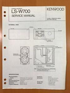ORIGINAL SERVICE MANUAL & SCHEMATIC KENWOOD LS-W700 SPEAKER SYSTEM D516