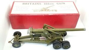 *VGC Britains Soldiers 155mm Gun No.2064*Complete and Boxed Inc. Instructions*