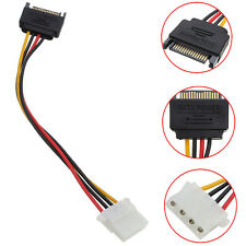 New SATA 15-pin Male Power Cable to Molex IDE 4-pin Female Power Drive Adapter