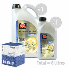 Engine Oil and Filter Service Kit 6 LITRES Millers XF Longlife ECO 5w-30 6L