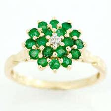 Handmade Cluster Round Fine Gemstone Rings
