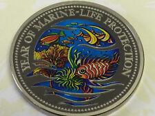 Year of Marine-Life Protection 1$ Republic of Palau 1992 Polychrom Sirena Korall