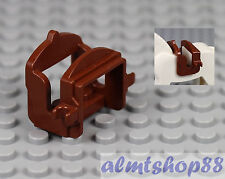 LEGO - Reddish Brown Saddle w/ 2 Clips for Horse Cow or Camel Animal Castle