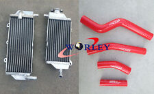 YAMAHA WR450F WRF450 WR 450F 2012 2013 2014 aluminum radiator & HOSE RED