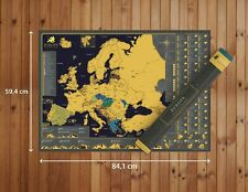 Scratch Map of Europe Wall Poster - Luxury XL (A1 84.1x59.4cm / 33.1x23.4 in)