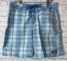 New listing VINEYARD VINES Mens' Blue Plaid Swim Trunks Board Shorts Size 33