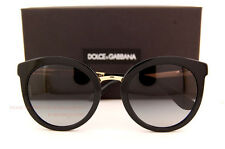 Brand New Dolce & Gabbana Sunglasses DG 4268 501/8G Black/Gradient Grey