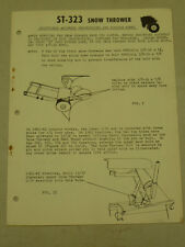1962 WHEEL HORSE TRACTOR ST-323 SNOW THROWER ASSEMBLY SERVICE MANUAL