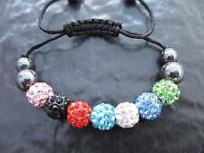 A Child / Kids Shamballa Bracelet Party Bag Filler Present Crystal Fast Delivery
