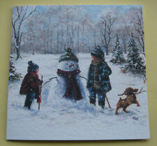 10 CUTE CHRISTMAS CARDS WITH ENVELOPES. Excellent Quality. 'CHILD'S PLAY'