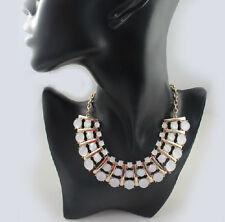 *Forever 21* Shiny Stones Fashion Bib Curve Collar Short Necklace J45
