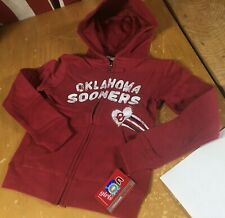 NWT $38 new Colosseum OU SOONERS Bling Zip HOODIE Jacket GIRLS XS 4-5 or S 6-6X