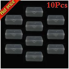 10X Portable Plastic Clear Transparent Storage Collections Container Box Case S