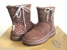 Ugg I Heart Slouchy Mini Chocolate Chip Knit Women Boots US4/UK2.5/EU35/JP21