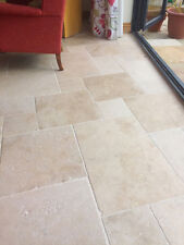 Sample of Tumbled Premium Light (Ivory) Travertine Wall & Floor Tiles