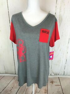 Women's Campus Heritage Maryland Terrapins Graphic Pocket Tee Sz XXL
