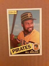 1985 O PEE CHEE Bill madlock card # 157. Pittsburgh Pirates.